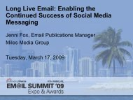 Long Live Email: Enabling the Continued ... - MarketingSherpa