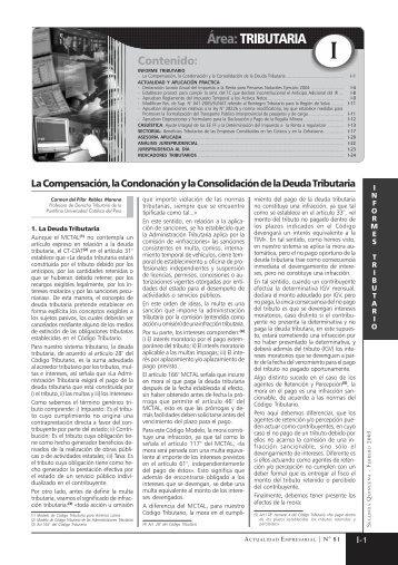 Área:TRIBUTARIA - Revista Actualidad Empresarial