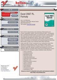 Excel 2007 PL. Formuły - Structum