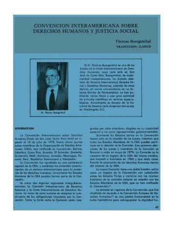 convencion interamericana sobre derechos humanos y ... - ILANUD