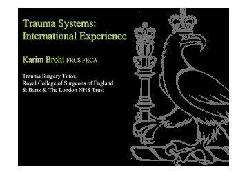 Trauma Systems - London Health Programmes
