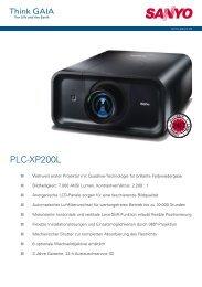 sanyo plc-xp200l - geier-tronic videotechnik