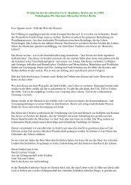 Predigt Investitur Berlin 16. Februar 2002 - St-lazarus-orden.de