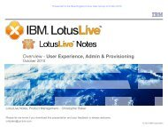 LotusLive Notes - New England Lotus User Group