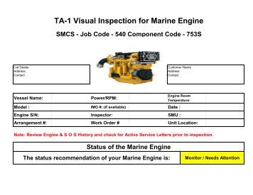 TA1 Visual Inspection Form Master - Marine Engine.pdf - Milton CAT