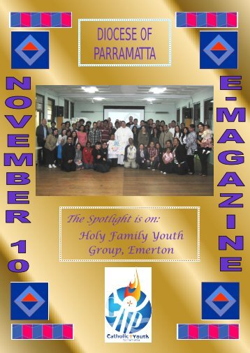 Youth E-Magazine November 2010 - Catholic Diocese of Parramatta