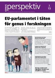 Genusperspektiv nr 1 2013 i pdf - Nationella sekretariatet för ...