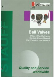Ball Valves - Stauff