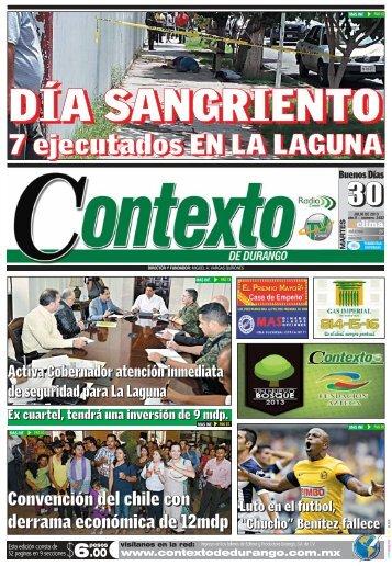 30/07/2013 - Contexto de Durango