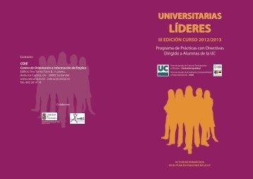Universitarias Líderes - COIE - Universidad de Cantabria