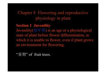Chapter 8 Flowering and reproductive physiology in plant