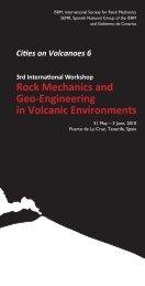 Rock Mechanics and Geo-Engineering in Volcanic ... - ISRM