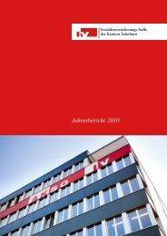Jahresbericht 2010 - IV-Stelle des Kantons Solothurn