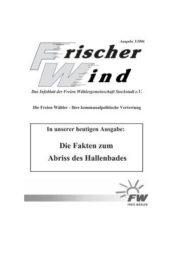 Ausgabe 3/2006 - Freie Wähler Stockstadt