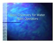 Basic Chemistry for Water Plant Operators