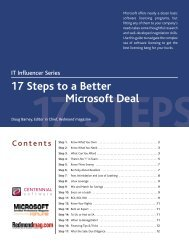 17 Steps to a Better Microsoft Deal