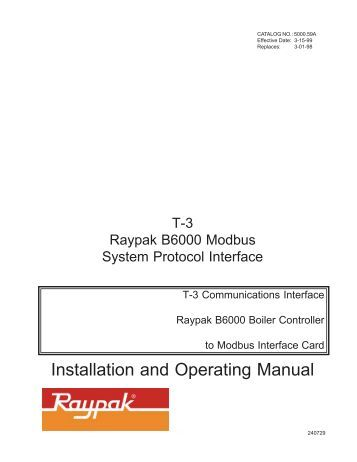 Installation and Operating Manual - ProSoft Technology