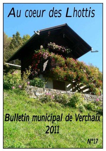 Bulletin municipal de Verchaix 2011