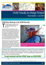 Child Friendly by Design Project - Healthy Cities Illawarra