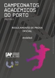 rpo cap andebol 2012 2013 - Federação Académica do Porto