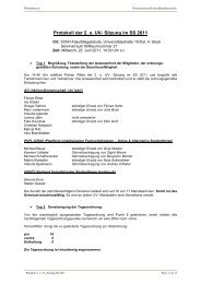 Protokoll der 2. o. UV- Sitzung im SS 2011 - Österreichische ...