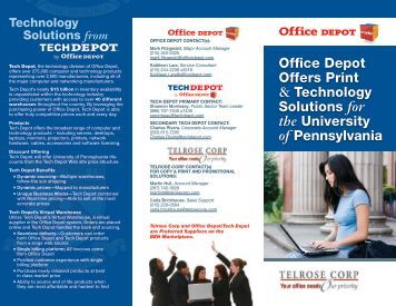 Office Depot Offers Print & Technology Solutions for ... - Tech Depot
