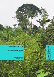 Projekt FONJAK Jahresbericht 2003 - Verein Grünwerk