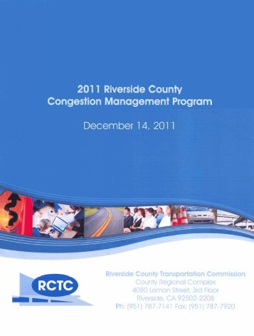Congestion Management Program - Riverside County ...
