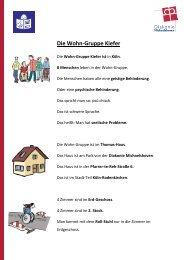 Wohngruppe Kiefer - Diakonie Michaelshoven