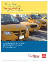 A SURVEY ON THE USE OF TAXIS IN PARATRANSIT PROGRAMS ...