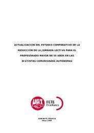 Actualización del estudio comparativo de la reducción ... - FETE-UGT