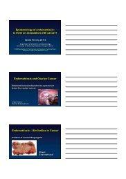 Epidemiology of endometriosis - eshre