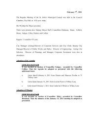 Council Minutes Monday, February 7, 2011 - City Of St. John's