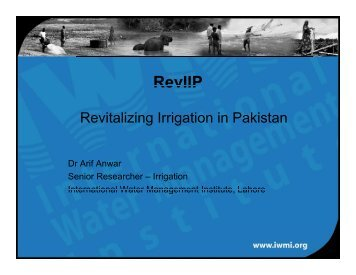 Revitalizing Irrigation in Pakistan