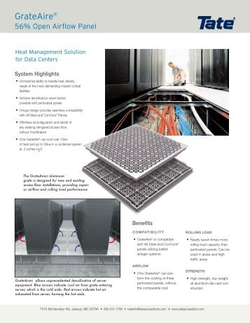 Superior GrateAire®   Tate Access Floors