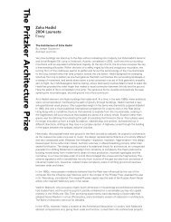 Zaha Hadid 2004 Laureate Essay - The Pritzker Architecture Prize