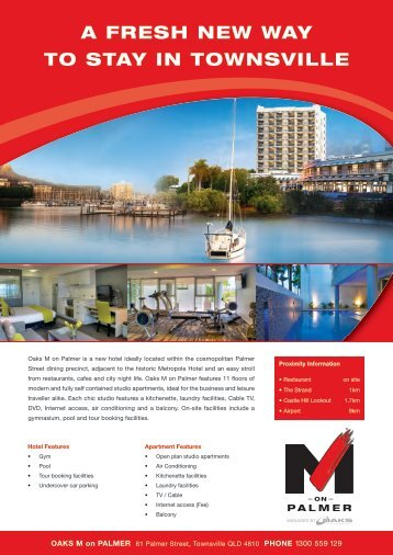 a fresh new way to stay in townsville - Oaks Hotels & Resorts