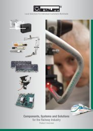 Components, Systems and Solutions for the Railway Industry - Stauff