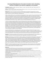 Assessing child development in the context of ... - The iLiNS Project