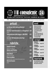 N. 24 del 14 giugno 2003 430 il consulente 1081 - Ancl
