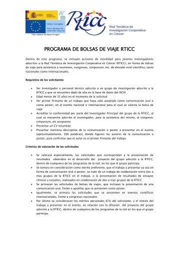 Instrucciones y requisitos para la solicitud de ayudas RTICC de ...