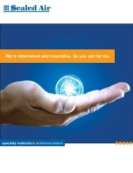 We're determined and innovative. So you can be too. - Sealed Air ...