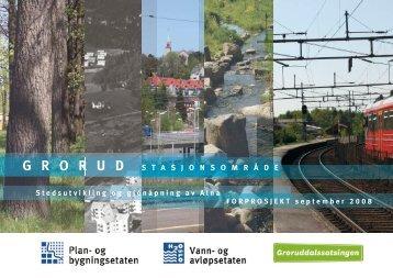 Grorud stasjonsområde - Plan