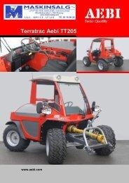 Terratrac Aebi TT205 - Maskinsalg AS
