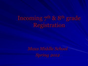 Incoming 7th grade Registration - Frisco ISD