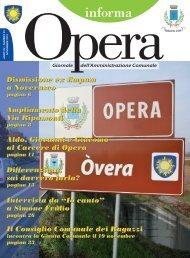 informa - Comune di Opera
