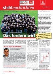 Stahlnachrichten - IG Metall Vertrauenskörper der Thyssen Krupp ...