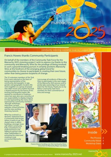 maroochy 2025 newsletter 3 - Working Planet