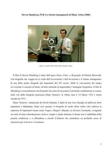 Steven Shainberg, FUR Un ritratto immaginario di ... - mediastudies.it