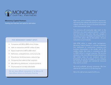 MCP Web Brochure_June2011.indd - Monomoy Capital Partners